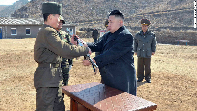 This undated picture released by North Korea on March 12 shows North Korean leader Kim Jong Un inspecting an army unit.