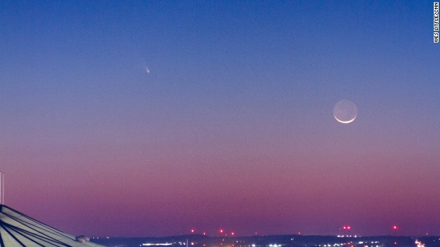 Wes Little captured a photo of Comet Pan-STARRS from Atlanta, Georgia, on March 2015.