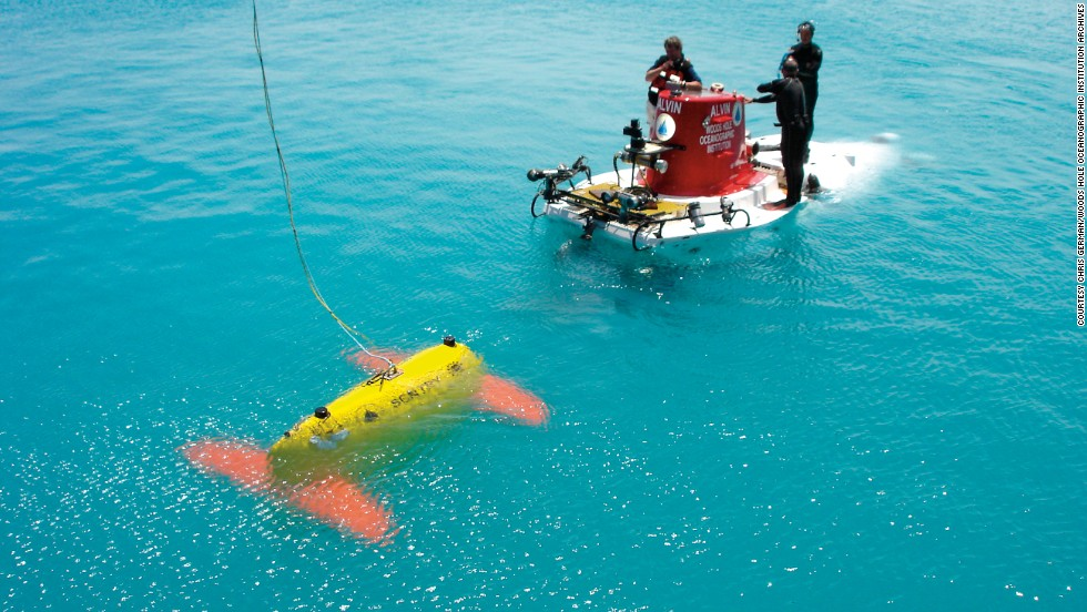 """What happens in the vast, deep ocean, out of sight and beyond the reach of sunlight and satellites?"" asks chief scientist Chris German. He is on a mission, with his team at the Woods Hole Oceanographic Institution, to find out. They developed Sentry, a robotic underwater vehicle used for exploring the deep ocean."