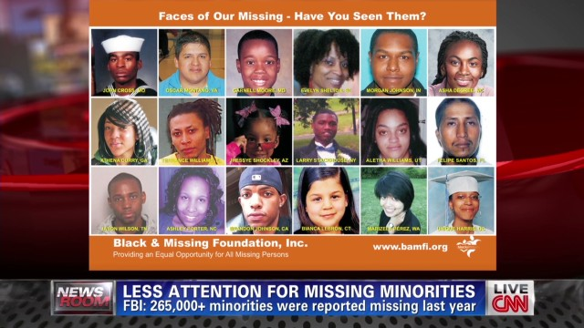 Missing minorities get less media coverage than white children and adults. Why?