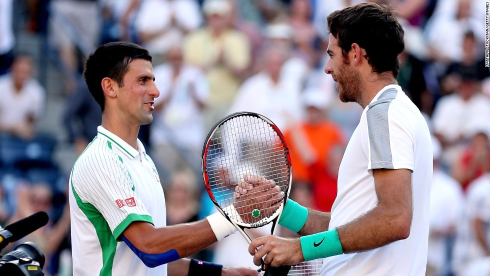 Djokovic Del Potro Horizontal Large Gallery Novak Defeats Juan Martin
