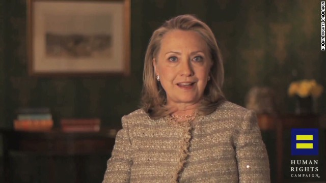 Hillary Clinton backs same-sex marriage
