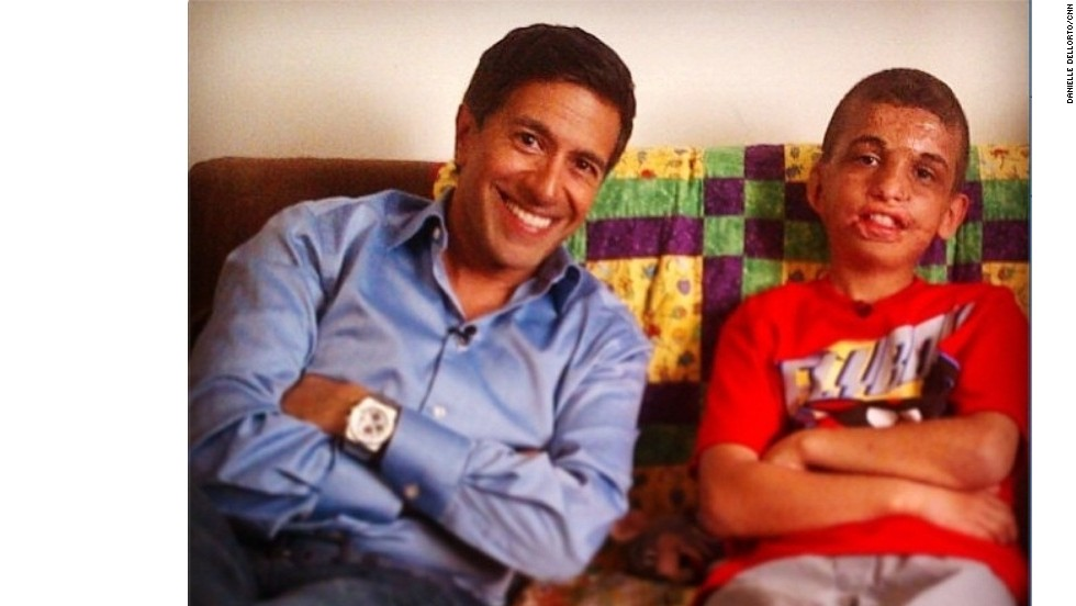 Youssif hangs out with CNN's Dr. Sanjay Gupta at the boy's home in California. Youssif tells Gupta he wants to be a doctor someday.