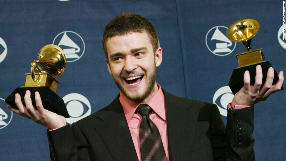 "At the 2004 Grammy Awards, Timberlake won best male pop vocal performance and best pop vocal album for his solo debut ""Justified."" Among the hit songs on the album: ""Rock Your Body,"" ""Cry Me a River"" and ""Like I Love You."""