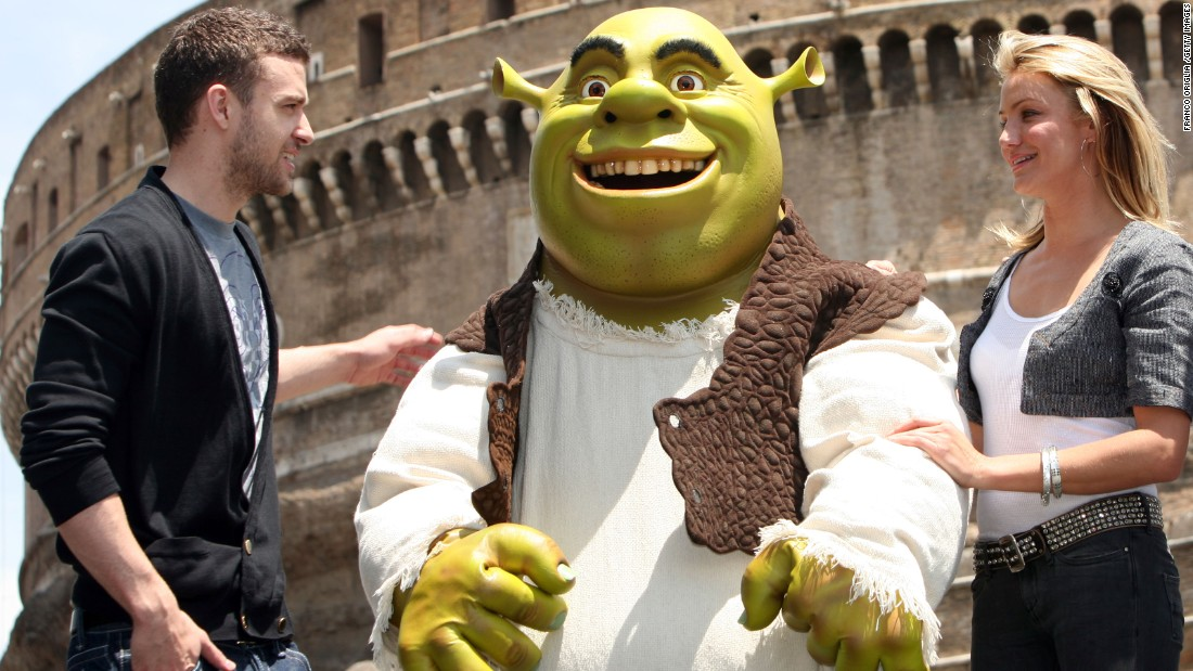 "JT lent his voice to 2007's ""Shrek the Third."" The film also features the vocal talents of Cameron Diaz, who reportedly dated Timberlake on and off from 2003 to 2007."