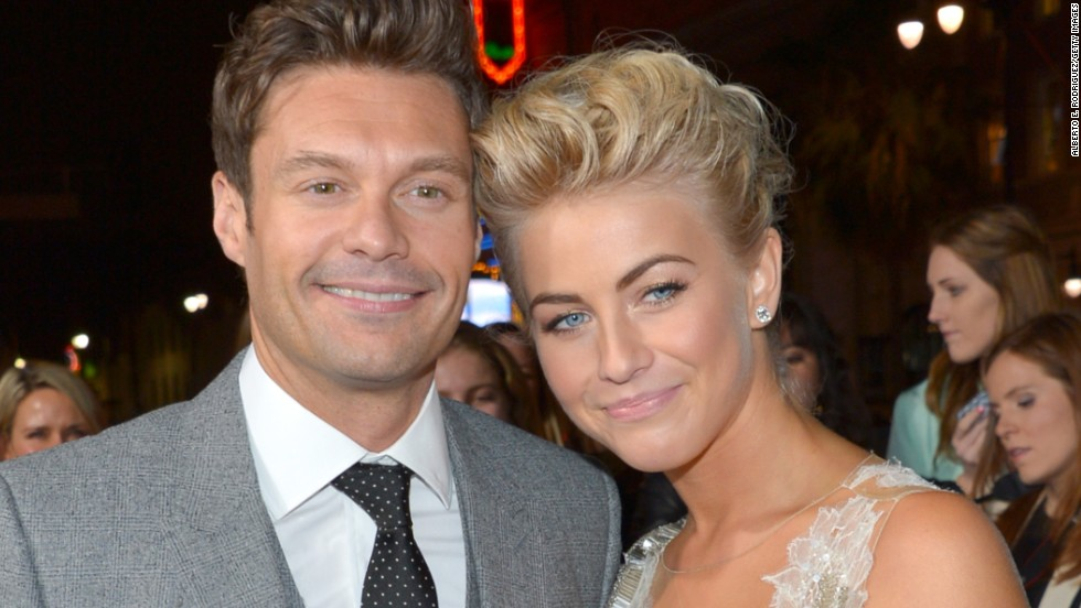"Julianne Hough and Ryan Seacrest decided to take a break in March 2013 after more than two years together, <a href=""http://www.people.com/people/article/0,,20682156,00.html"" target=""_blank"">People</a> reported. The duo's busy schedules were to blame, but they plan to stay friends, sources told the magazine."