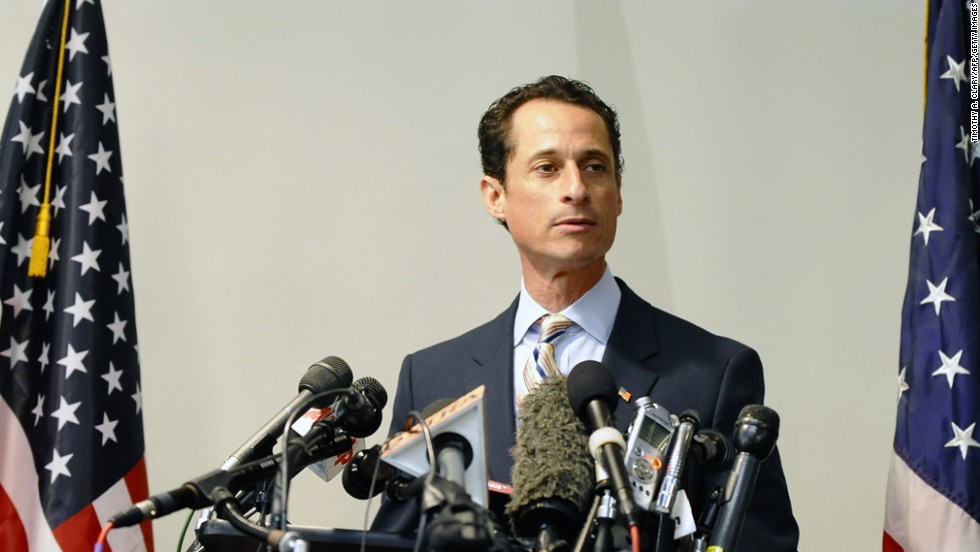 "Former Rep. Anthony Weiner, D-New York, resigned from Congress in 2011 after being embroiled for weeks in a sex scandal linked to his lewd online exchanges with women. Weiner announced in May that he was running for mayor of New York City, saying in a video announcing his campaign, ""I hope I get a second chance to work for you."" Weiner's comeback bid suffered a potential setback Tuesday, July 23, when he acknowledged more sexually tinged exchanges with an unnamed woman. ""What I did was wrong,"" Weiner said in a statement about the newly emerged communications."