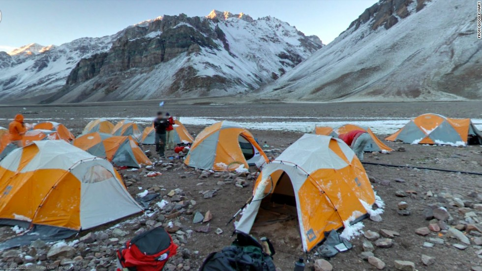 Casa de Piedra is a base camp from which climbers make for the summit of Aconcagua, Argentina.