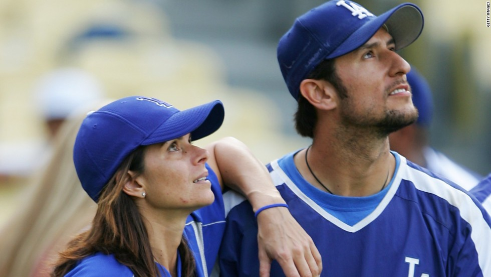 After one failed marriage, two-time female football World Cup winner Mia Hamm finally found her perfect match when marrying then Boston Red Sox star Nomar Garciaparra in 2003 - with the couple's third child arriving into the world last year.