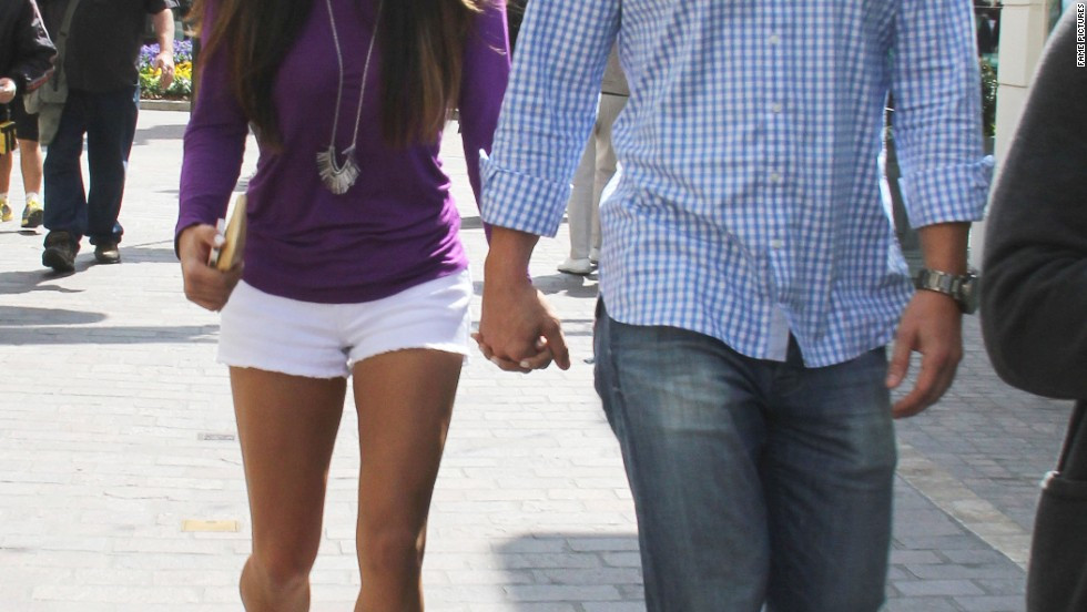 """The Bachelor's"" Sean Lowe and Catherine Giudici go for a walk in Los Angeles."
