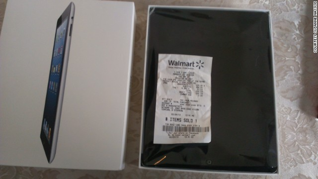 Susan Nassise paid $499 for an iPad at a Walmart in Brockton, Massachusetts, only to open the box and find a plastic fake.