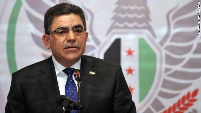 Ghassan Hitto is the new head of the Syrian opposition's interim government.