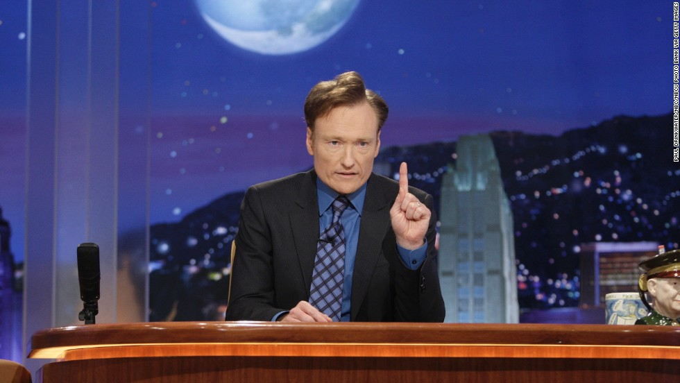 "Conan O'Brien hosted the show for seven months and left after NBC announced that it would be moving his show to after midnight and Leno's prime-time show to ""The Tonight Show's"" time slot. Here, O'Brien on his final show on January 22, 2010."