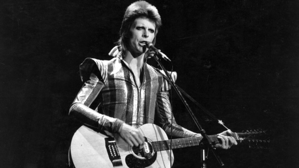 Fans gather at Bowie's birthplace for tribute