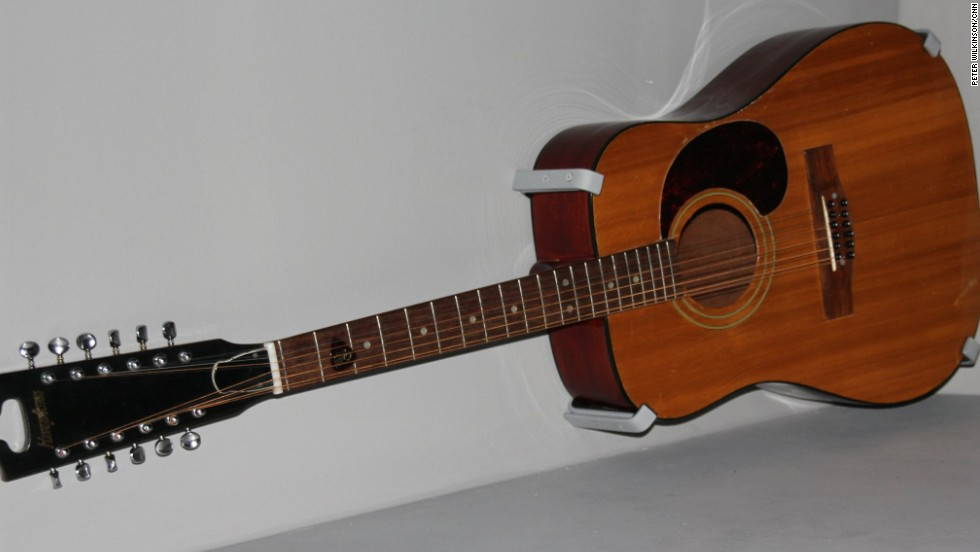 "With the popularity of guitar bands like the Beatles and Rolling Stones, Bowie soon took up the guitar. He played this 12-string Harptone acoustic on his first breakthrough hit, ""Space Oddity"" in 1969."
