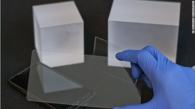 New Hampshire's GT Advanced Technologies is working on an ultrathin, manufactured sapphire phone screen.