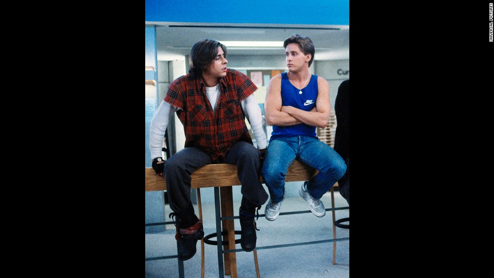 "Along with Lowe, Judd Nelson, left, and Emilio Estevez were two members of Hollywood's ""Brat Pack,"" and each retained '80s teen dream status for different reasons. Estevez was the handsome ""unofficial president"" of the group, as <a href=""http://nymag.com/movies/features/49902/index1.html"" target=""_blank"">New York magazine</a> deemed him in '85. Nelson, meanwhile, was perceived to be the wayward but lovable bad boy -- along the lines of his character in that year's ""The Breakfast Club,"" which he starred in with Estevez."