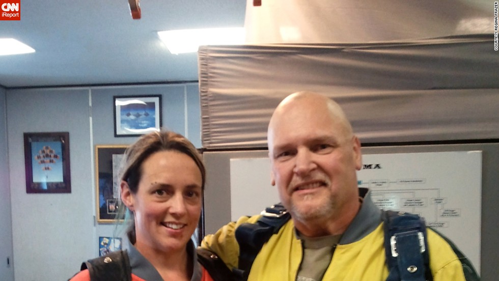 "Frazer and her husband celebrated meeting their weight loss goals by going skydiving in Las Vegas last summer. They also attended a roller derby conference called <a href=""http://www.rollercon.net/"" target=""_blank"">Rollercon</a>."