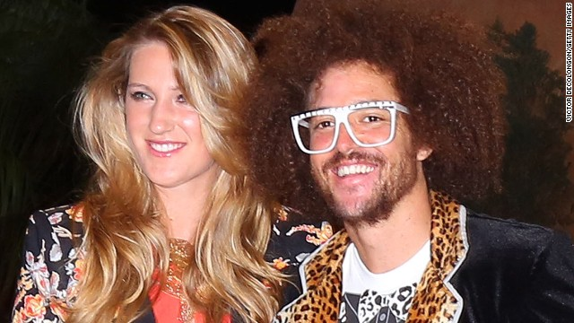 Victoria Azarenka and LMFAO singer Redfoo at a players' party at the IW Club on  in Indian Wells, California on March 7.