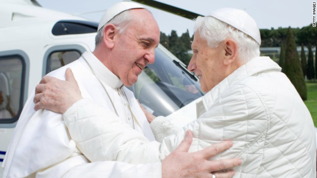 Benedict XVI and Pope Francis have lunch