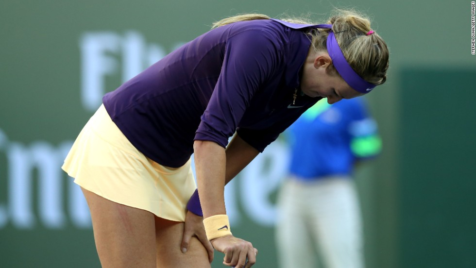 "Australian Open champion Victoria Azarenka was forced to withdraw from the tournament with an ankle injury. ""It was really obvious what the decision was couple days ago already,"" Azarenka told reporters. I just wanted to give my 100 percent possibility to play and today was my last test."""