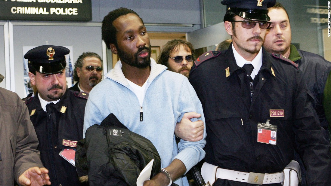 Rudy Hermann Guede, an Ivory Coast native raised in Perugia, was convicted separately from Knox and Sollecito and is now serving 16 years. Guede admitted to being with Kercher on the night she died, but said he didn't kill her. Both Knox and Sollecito argued that he was the killer, and Guede suggested the couple took Kercher's life.