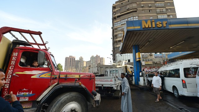 Egypt's economy is suffering under the pressure of a mounting shortage of diesel fuel.