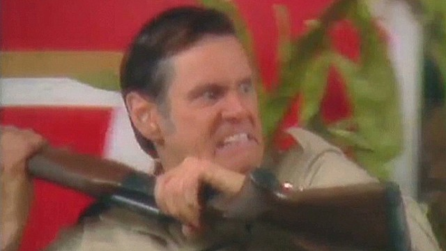 Carrey takes on gun lobby