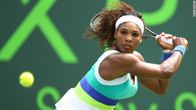 Serena Williams, who lives in nearby Palm Beach, dug deep to see off Dominika Cibulkova at Key Biscayne.
