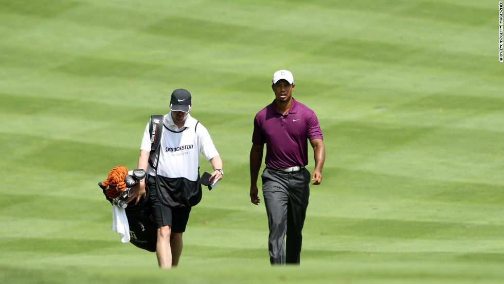 After a nearly three-month break, Woods returned to golf at the Bridgestone Invitational in August 2011.