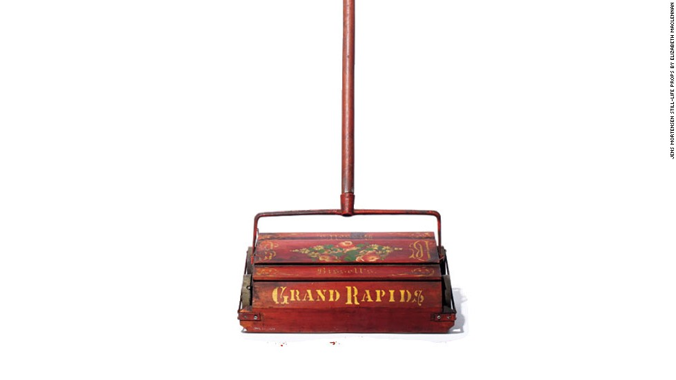This spinning wonder was patented in 1876 by Melville Bissell. He created the carpet sweeper at the behest of his wife, Anna, who was frustrated with the existing rug-cleaning technology. After Melville's untimely death in 1889, Anna became America's first female corporate CEO and helped the company grow into a powerhouse. Today the Bissell Swift Sweep remains a go-to gadget for quick (and quiet) cleanups.