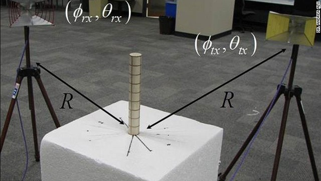 It doesn't look as cool as Harry Potter's invisibility cloak, but this is real science, not movie magic.