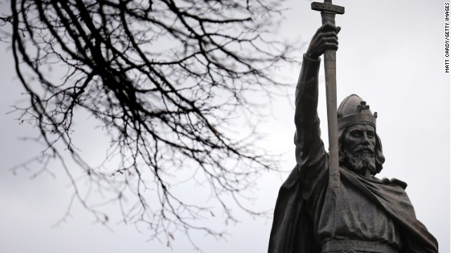A statue of Alfred The Great on February 6, 2013 in Winchester, England.