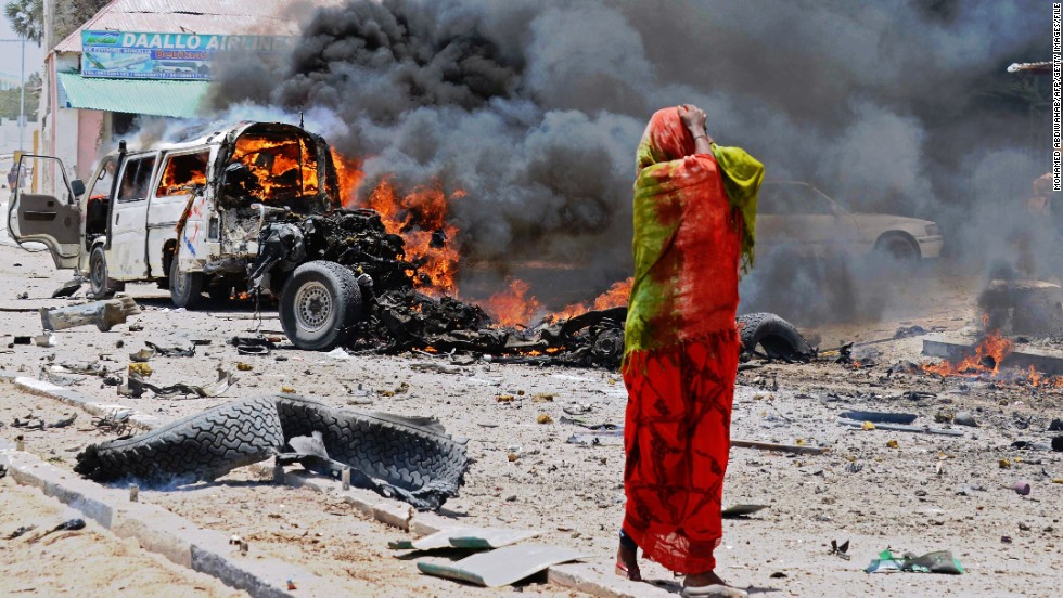 Al Shabaab's withdrawal from Mogadishu was followed by suicide attacks and ambushes. Today, guns have largely fallen silent  but the city still remains on edge -- at least 10 people were killed in the suicide bombing of a bus outside Mogadishu's National Theater on March 18.