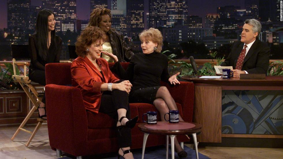 "The women of ""The View"" became stars in their own right. Lisa Ling, Star Jones, Joy Behar and Walters appeared with Jay Leno on ""The Tonight Show."""