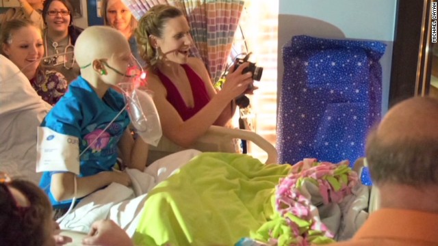 Girl with cancer gets hospital prom