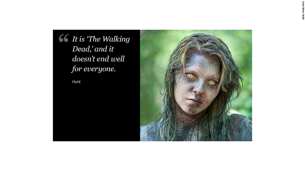 "Of the finale, Reedus told CNN, ""It's a war. Everyone wants revenge and blood."" Holden said, ""If fans ever couldn't quite understand the path Andrea took, I think it will be made clear in the finale, and will be satisfying."""