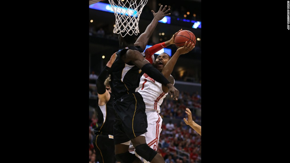 Deshaun Thomas of Ohio State goes up for a shot against Ehimen Orukpe of Wichita State on March 30.