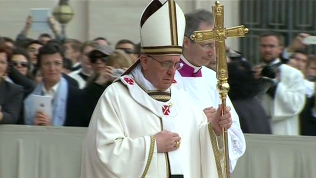 Pope Francis celebrates Easter Mass