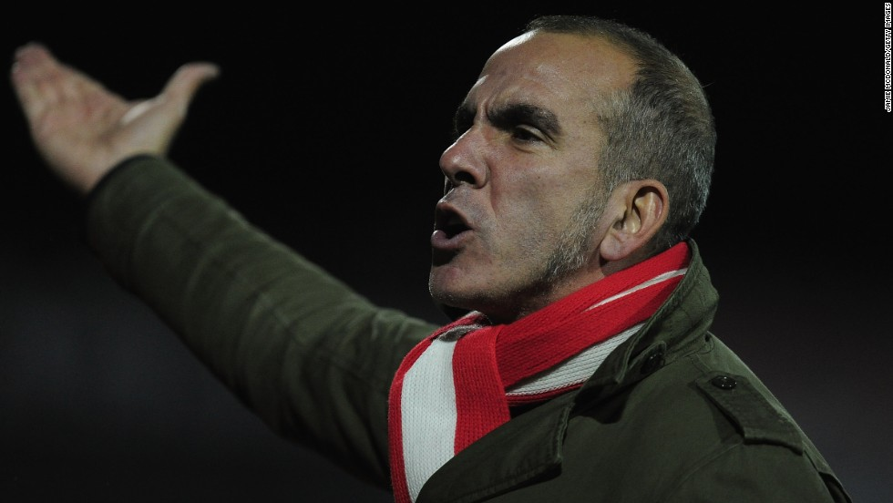 Di Canio's only other managerial job was at Swindon, where he took the English club from the fourth division of English football to the third before quitting over a lack of funding to sign players.