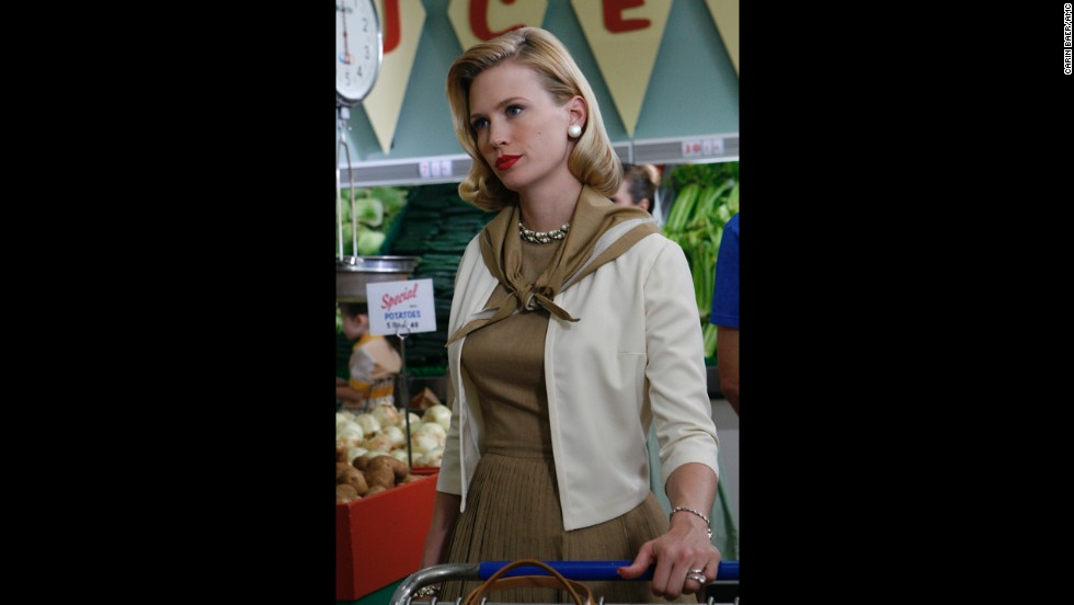 January Jones plays Draper's wife -- later ex-wife -- Betty.