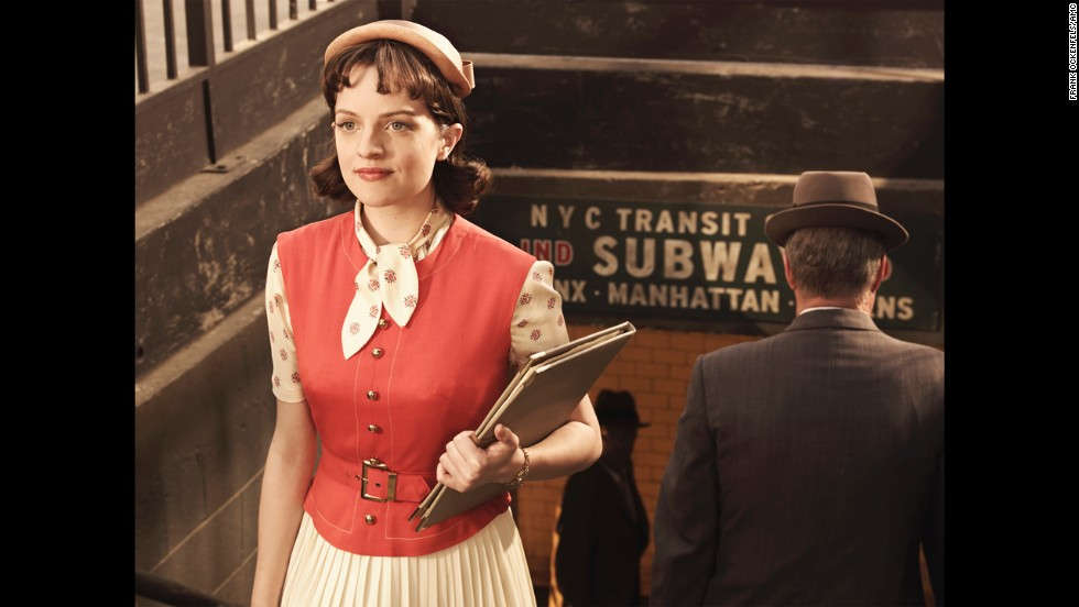 Peggy takes public transportation in season 3.