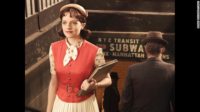 "Moss stars as Peggy Olson in the hit drama ""Mad Men."""