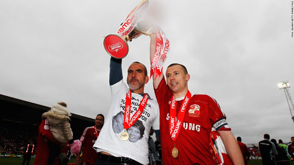 His arrival at Swindon in 2011 marked the departure of one of the club's sponsors in protest at his past statements about fascism, but Di Canio led the team out of England's bottom division as champions in his first season as manager. However, he dropped captain Paul Caddis (pictured) before the 2012-13 campaign started, and quit in February due to Swindon's financial problems -- and then had to break into his office to retrieve personal items after the locks were changed.