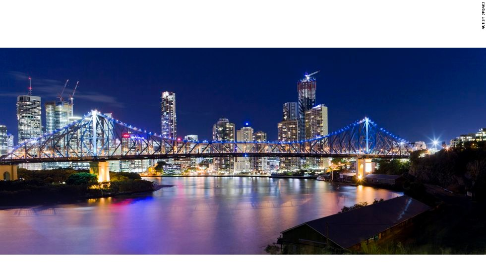 The Story Bridge in Brisbane, Australia, lights up blue for the 2012 World Autism Awareness Day.