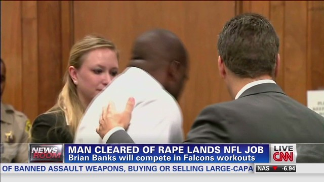 Man cleared of rape lands NFL job