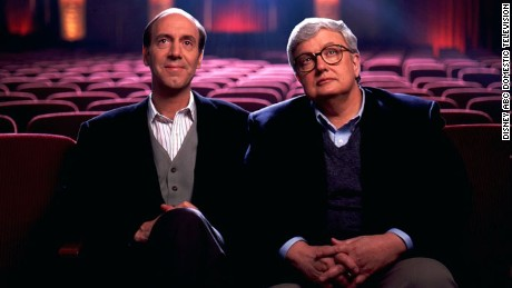Siskel, left, chose to hide his terminal cancer from his co-workers, including Ebert, until his final days.