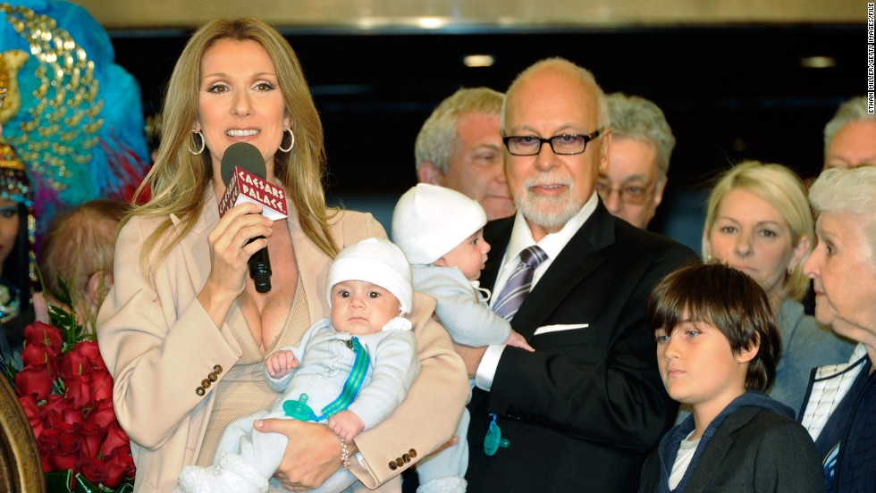 Celine Dion and her husband, René Angelil, welcomed twin boys in 2010. Dion was 42 at the time.