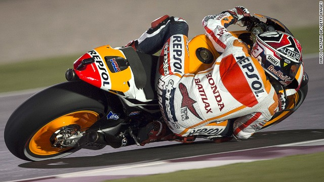 MotoGP rookie Marc Marquez was a surprise name at the top of the practice timesheets at Losail in Doha, Qatar.
