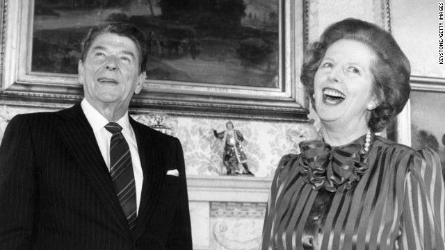 Thatcher and Reagan: Political soulmates